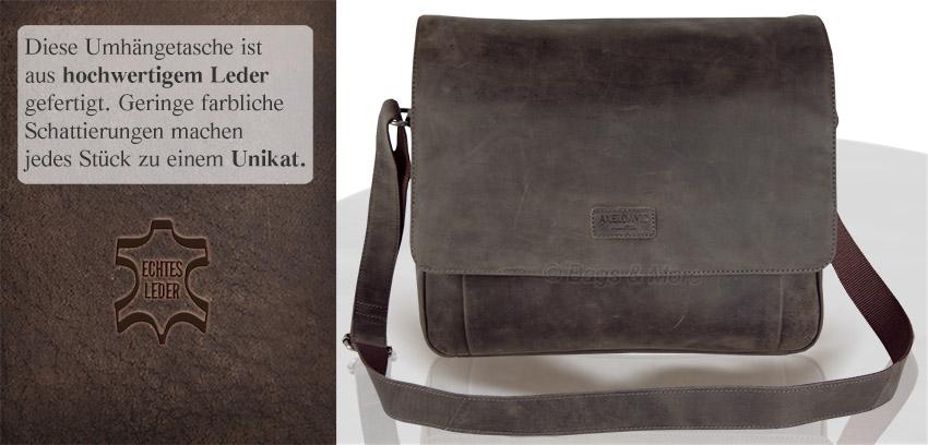 870f9026d7dfe Tasche Laptop Leder Brasil David Axel Schultertasche Umhängetasche DeE29YWHI