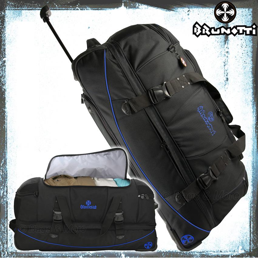 brunotti reisetrolley manie xxl reisetasche rollentasche koffer trolley neu blau ebay. Black Bedroom Furniture Sets. Home Design Ideas