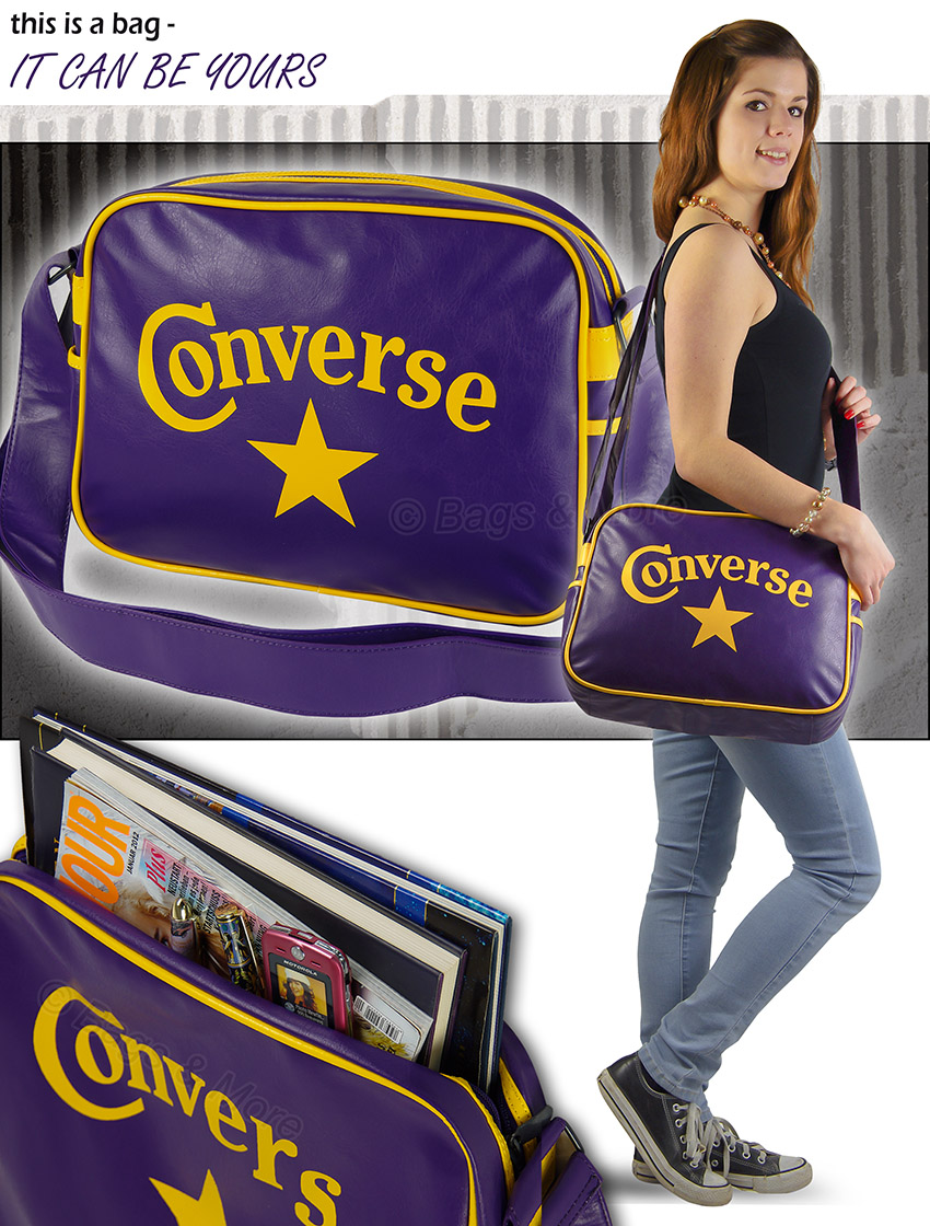 converse umh ngetasche schultertasche schultasche star. Black Bedroom Furniture Sets. Home Design Ideas
