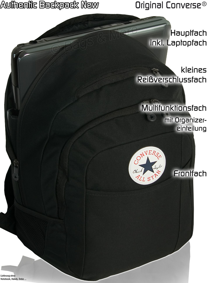 converse schulrucksack authentic notebook rucksack schw ebay. Black Bedroom Furniture Sets. Home Design Ideas
