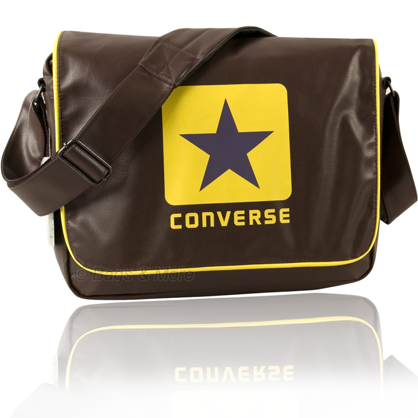 converse umh ngetasche blocklogo schultertasche notebook. Black Bedroom Furniture Sets. Home Design Ideas