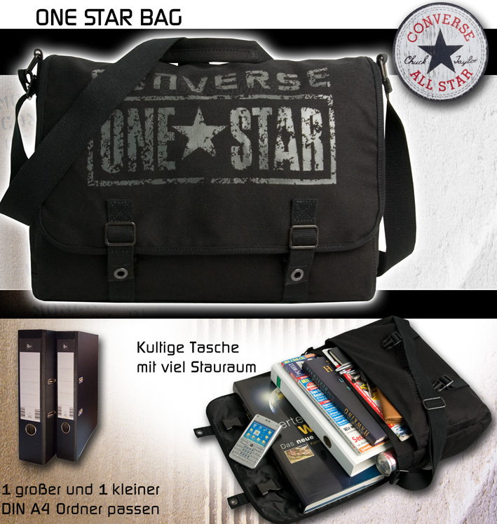 CONVERSE Umhängetasche Schultertasche Überschlagtasche Tasche ONE STAR  Messenger  646e222dc97e4