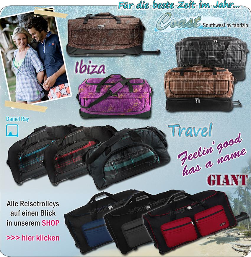 Mit einem Klick alle Reisetaschen und Trolleys im eBay-Shop aufrufen >>
