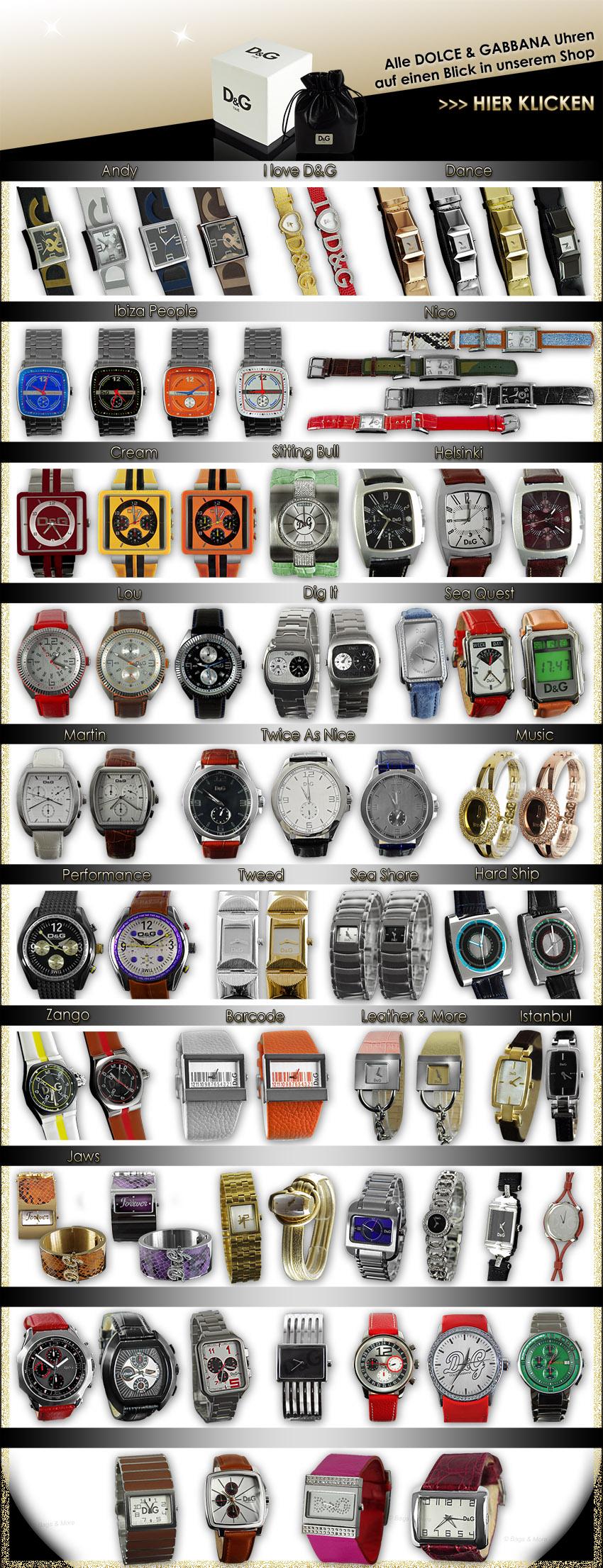 Mit einem Klick alle Marken-Uhren Modelle im Shop aufrufen >>