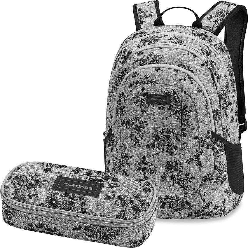 SCHOOL CASE Schlamper Mäppchen NEU DAKINE SET Laptop Schul Rucksack GARDEN 20l