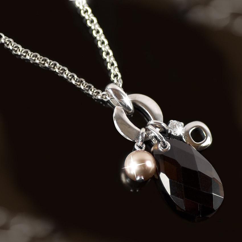 fossil halskette embrace damen kette collier silber. Black Bedroom Furniture Sets. Home Design Ideas
