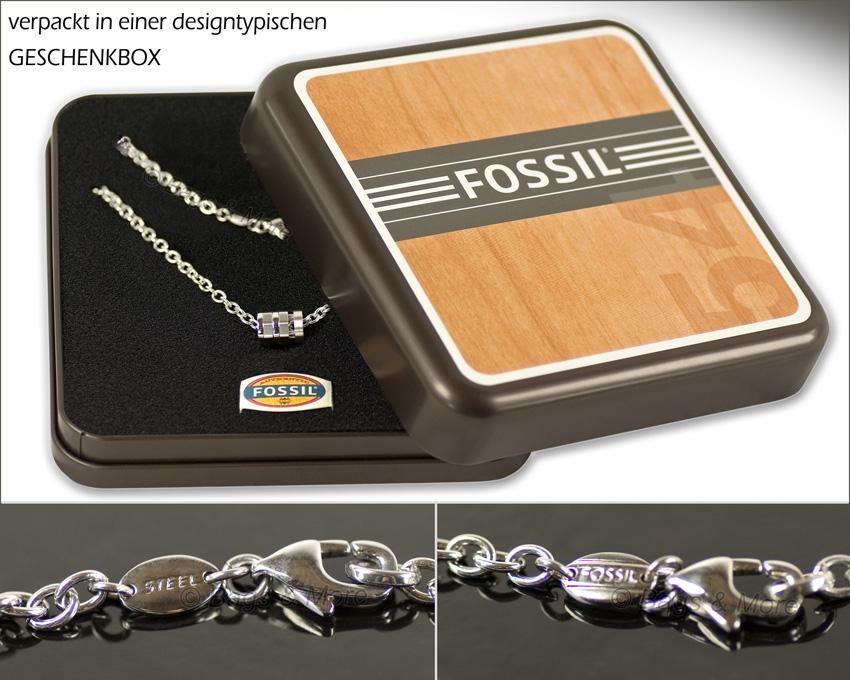 fossil halskette vision kette edelstahl herren schmuck. Black Bedroom Furniture Sets. Home Design Ideas