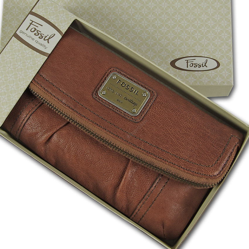 58dacb37be986 Geldbörse - Geldbeutel - Damenbörse Wallet - Portemonnaie Emory Foldover  Clutch Original Fossil
