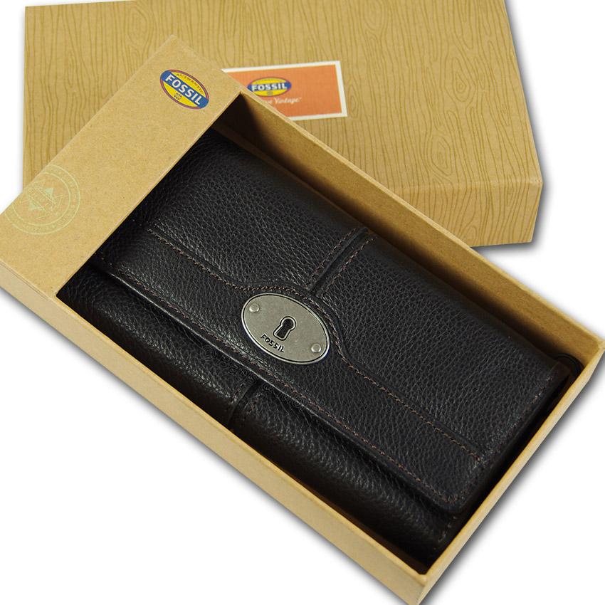 9ab65e604b7dd FOSSIL Leder Geldbörse Portemonnaie Geldbeutel MADDOX FLAP CLUTCH ...