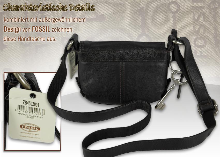 FOSSIL Handtasche Schultertasche Ledertasche Damen Tasche MADDOX SMALL FLAP