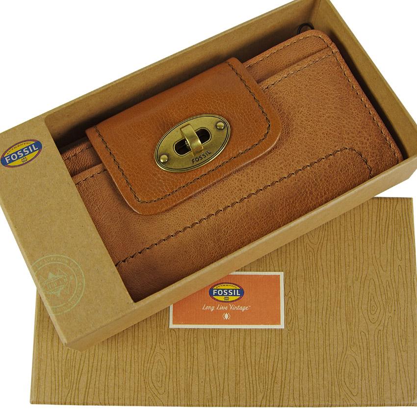 fossil leder geldb rse portemonnaie geldbeutel mason clutch damen b rse camel ebay. Black Bedroom Furniture Sets. Home Design Ideas