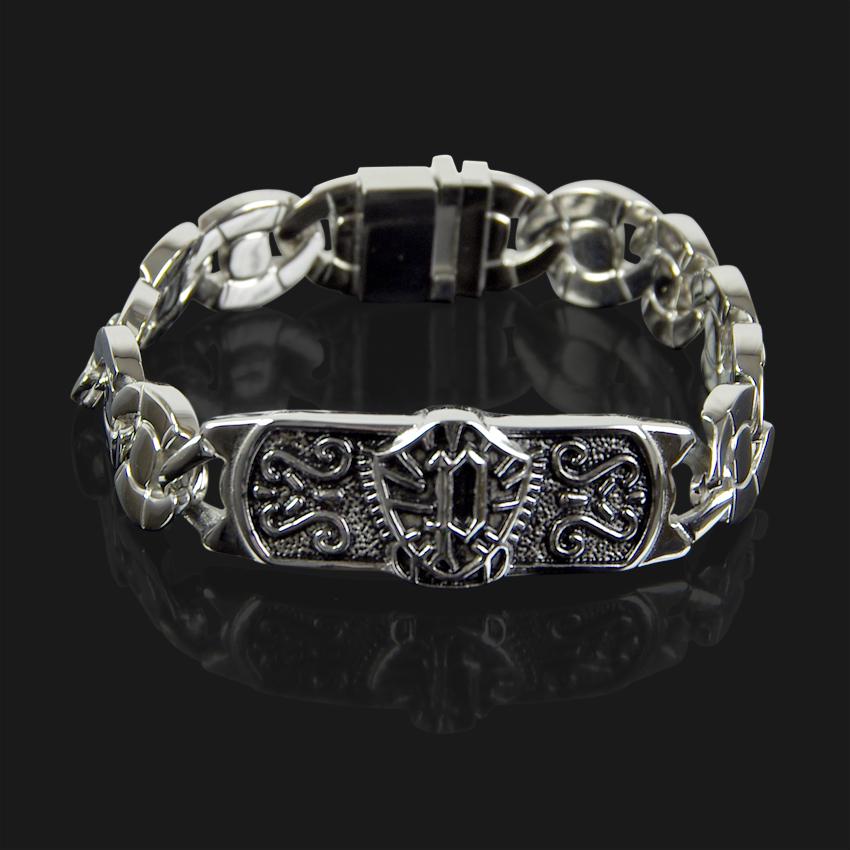 POLICE Armband Armkette Herren Schmuck ODIN Edelstahl Schwarz Silber PJ24701